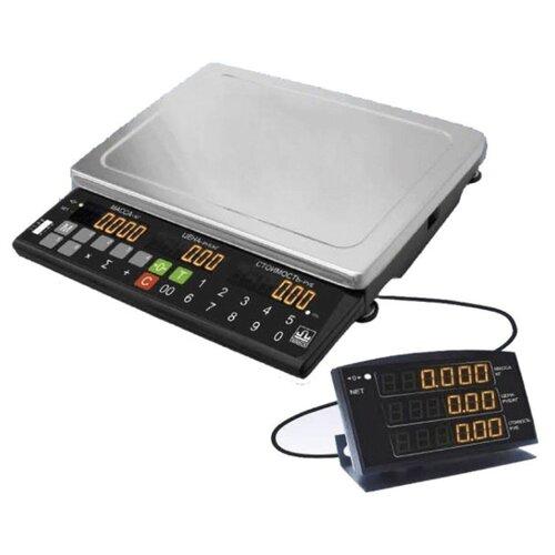 Весы торговые МАССА-К МК-32.2-Т21 (0,1-32 кг), дискретность 10 г, платформа 340x245 мм, переносной дисплей