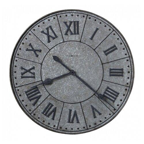 Часы настенные кварцевые Howard Miller Manzine серый