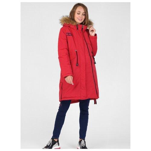 Куртка-парка зимняя 2в1 I love mum Торонто красная для беременных (44)