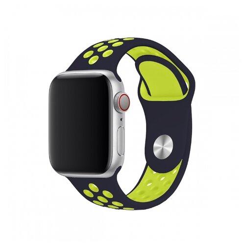 Сменный ремешок Nuobi Sport ver.1 для Apple Watch, Черный/желтый 38/40 mm сменный ремешок nuobi для apple watch 38 40mm черный