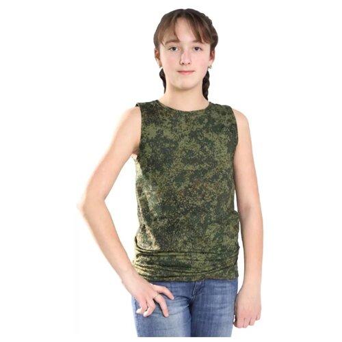 Купить Майка БВР размер 44/170-176, зеленый, Футболки и майки