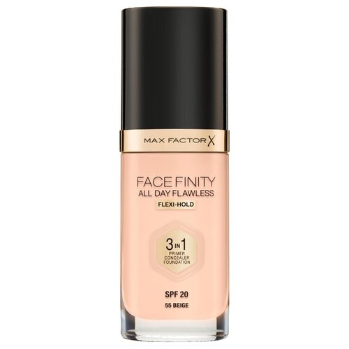 Max Factor Тональный крем Facefinity All Day Flawless 3-in-1, 30 мл, оттенок: 55 Beige недорого