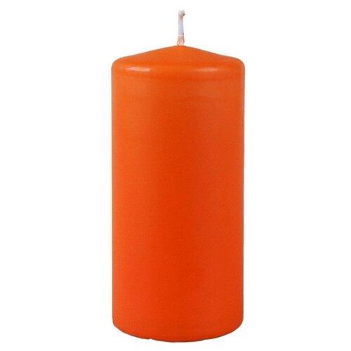 Свеча столбик, оранжевая, 6х12.5 см, Омский Свечной 079625-свеча