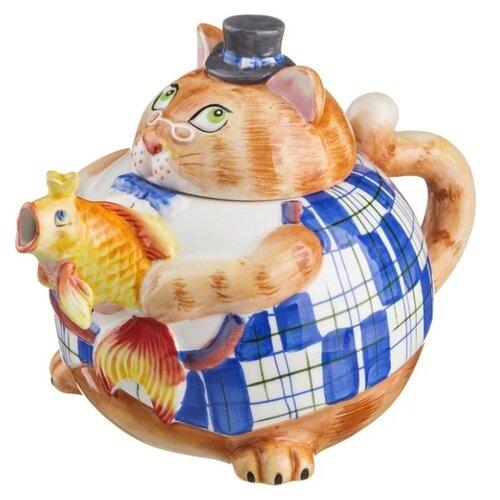 Фото - Lefard Заварочный чайник Кошка 59-629 1000 мл, оранжевый фарфоровый заварочный чайник паркур 1000 мл