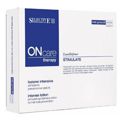 Selective OCSS Stimulate Intense Lotion Лосьон интенсивный стимулирующий от выпадения волос 12 ампул * 6 мл