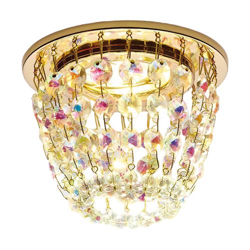 Встраиваемый светильник Ambrella light Crystal K2075 G/PR 0 pr на 100