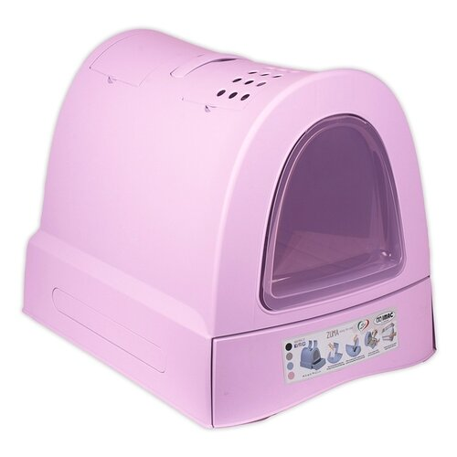 Туалет-домик для кошек Imac Zuma 40х56х42.5 см пепельно-розовый