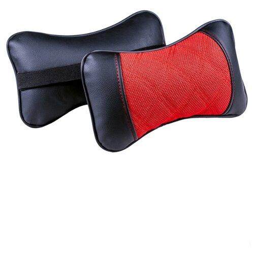 Комплект автомобильных подушек под шею (Sting, красный/красный/красный, 2 штуки)