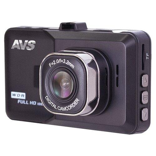 Видеорегистратор AVS VR-202DUAL-V2, 2 камеры, серый видеорегистратор avs vr 802shd черный