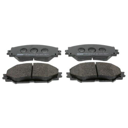 Фото - Дисковые тормозные колодки передние Ferodo FDB1891 для Toyota, Lexus, Subaru (4 шт.) дисковые тормозные колодки передние ferodo fdb4046 для toyota aurion toyota corolla 4 шт