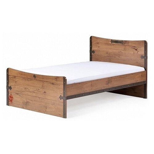 Кровать детская Cilek Pirate односпальная, размер (ДхШ): 206х125 см, цвет: коричневый кровать детская cilek lofter односпальная 20 57 1705 01 спальное место дхш 200х100 см цвет бежевый