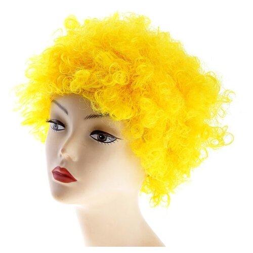 Купить Карнавальный парик Страна Карнавалия Объемный , цвет желтый, 120 г (331637), Карнавальные костюмы
