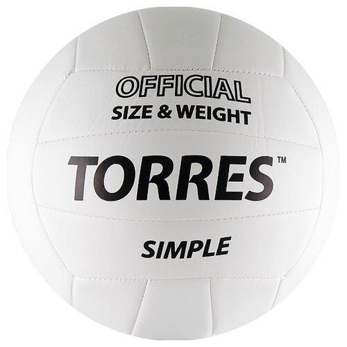 Волейбольный мяч TORRES Simple V30105 белый