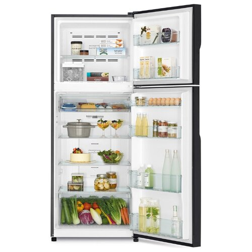 Двухкамерный холодильник Hitachi R-VG 472 PU8 XRZ градиент розово-красного стекло
