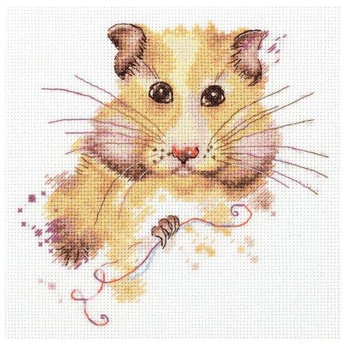 Купить PANNA Набор для вышивания Хомяк 17.5 x 17.5 см (J-7030), Наборы для вышивания