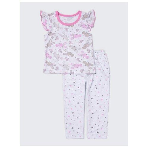 Купить Пижама KotMarKot размер 122, белый, Домашняя одежда