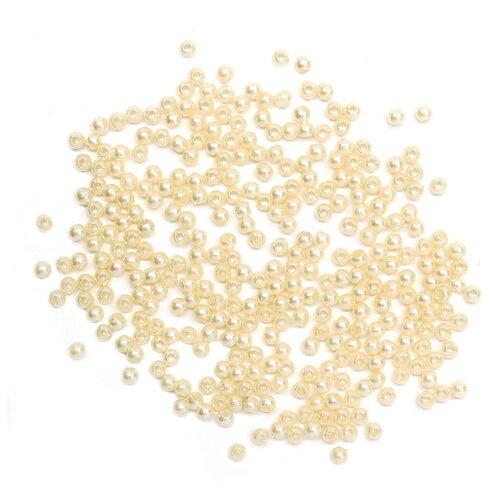 Купить Бусины круглые, пластик, 3 мм, упак./20 гр., 'Астра' (005 NL), Astra & Craft, Фурнитура для украшений