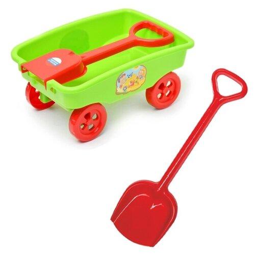 Купить Детский игровой набор для песочницы: Тележка+ Лопатка 50, ZEBRATOYS, Наборы в песочницу