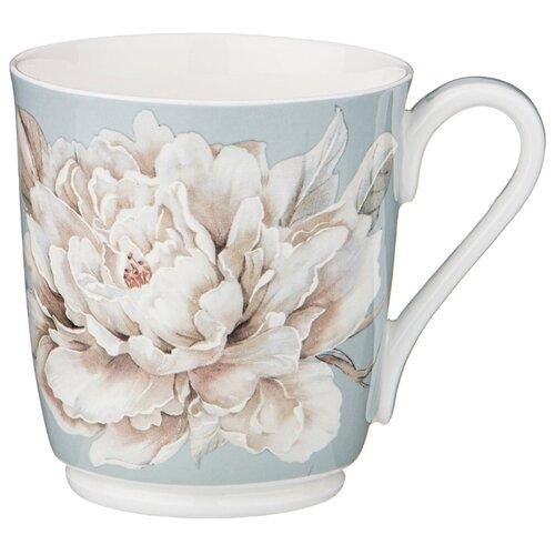 Кружка lefard белый цветок 340мл голубая Lefard (86-2429)