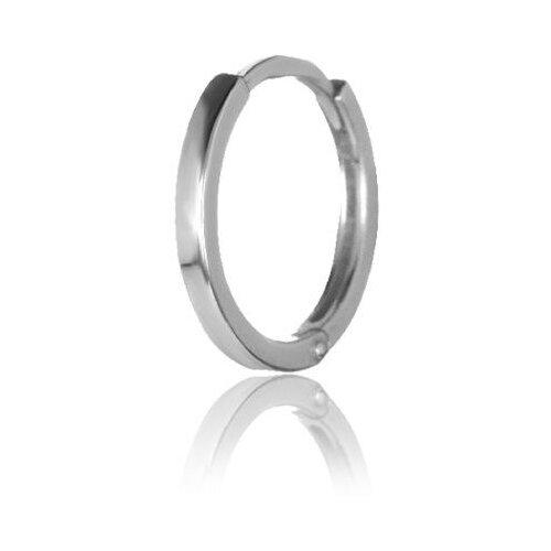 TOP CRYSTAL Одиночная серьга-кольцо, серебряная 40455377м