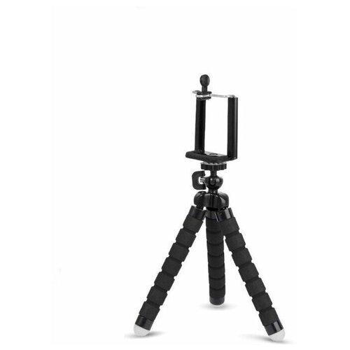 Настольный мини штатив трипод (тренога) гибкий с креплением для смартфона черный ISA