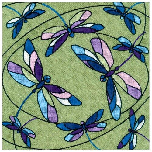 Фото - Риолис Набор для вышивания Подушка/панно Витраж. Стрекозы 33 х 33 см (1655) набор для вышивания риолис сотвори сама 1600 подушка панно венское кружево