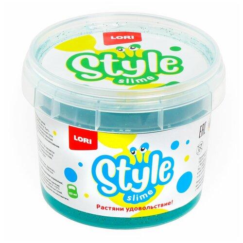 Лизун LORI Style Slime блестящий с ароматом яблока морская волна