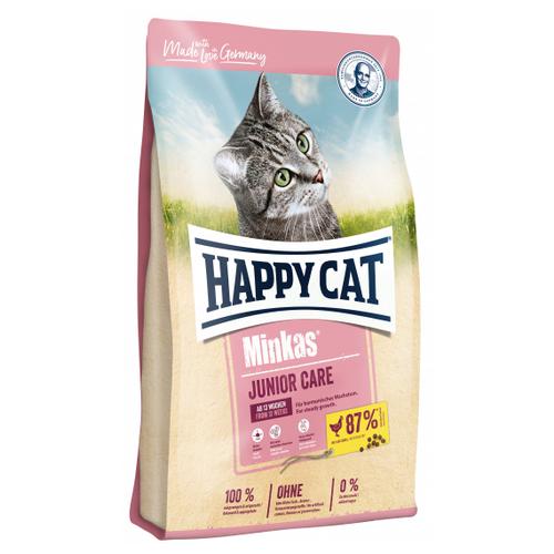 Сухой корм для котят Happy Cat Minkas, с птицей 1.5 кг
