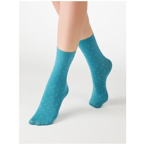 Капроновые носки MiNiMi Micro pois 70, размер 0 (one size), acqua