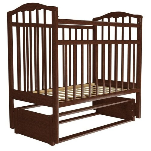 детские кроватки агат золушка 6 маятник продольный с ящиком Кроватка Агат Золушка-5 (классическая), продольный маятник вишня