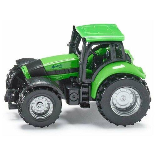 трактор siku с прицепом кузовом 1858 1 87 22 6 см желтый Трактор Siku Deutz-Fahr (859) 1:87, 7 см, зеленый/черный