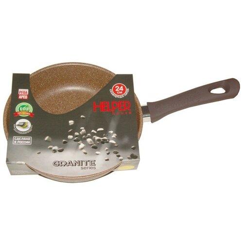 helper 4542 Сковорода Helper Granit GM5026, 26 см, мокко