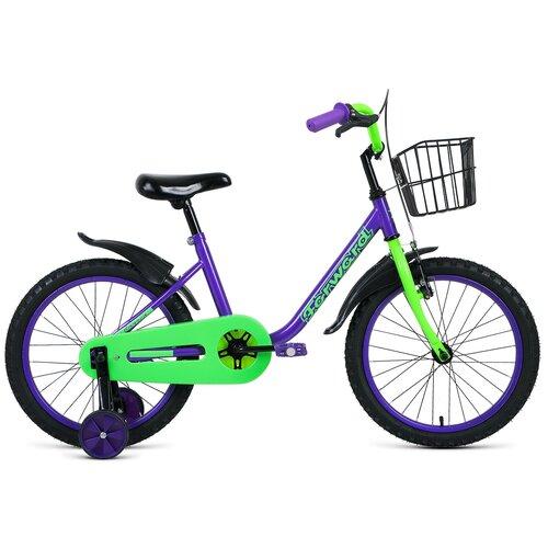 Фото - Детский велосипед FORWARD Barrio 18 (2021) фиолетовый (требует финальной сборки) детский велосипед forward barrio 18 2020 красный требует финальной сборки
