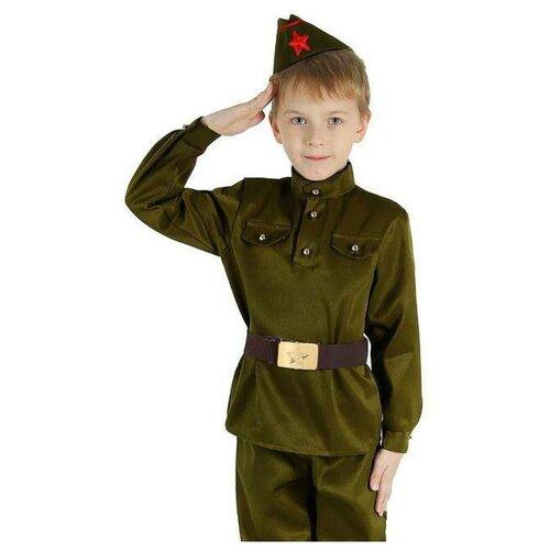Купить Костюм военного Страна Карнавалия р-р 34, рост 134 см (2277767), Карнавальные костюмы