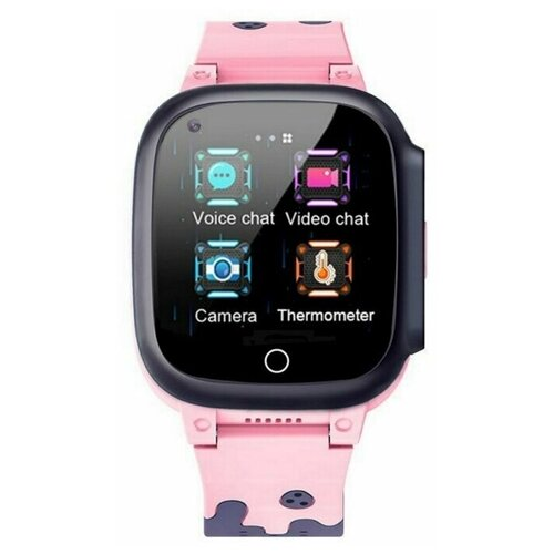 Детские умные часы Smart Baby Watch T8W, черный/розовый часы smart baby watch v7k черный