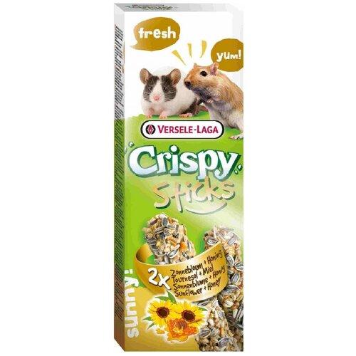 Versele-laga палочки для песчанок и мышей crispy с подсолнечником и медом 2х55 г (2 шт)