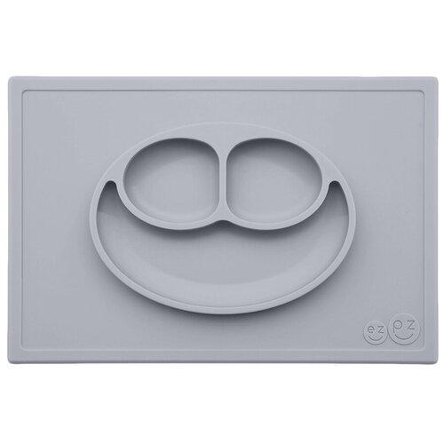Купить Тарелка EZPZ Happy mat, pewter, Посуда