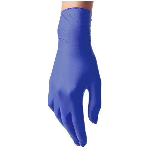 Перчатки Benovy нитриловые одноразовые с текстурой на пальцах, 50 пар, размер L, цвет васильковый недорого