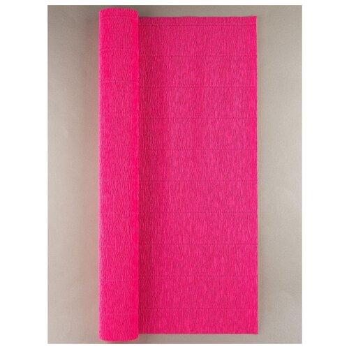 Купить Бумага гофрированная 50см х 2, 5м., 180г/м., Cartotecnica Rossi, 551 ярк.розовый, Цветная бумага и картон