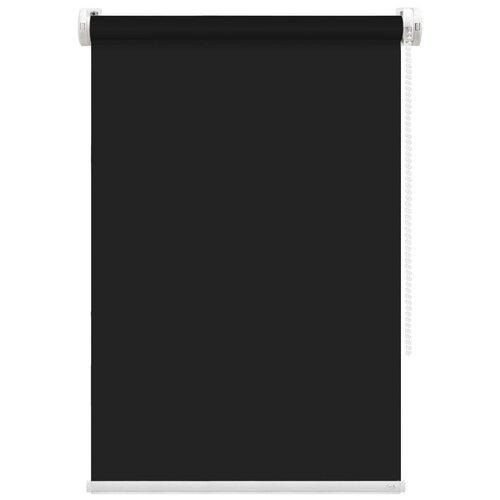 Рулонная штора FixLine Basic (черный), 80х180 см