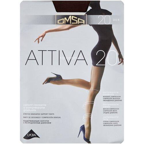 Колготки Omsa Attiva, 20 den, размер 2-S, marrone (коричневый) колготки omsa attiva 20 den размер 2 s marrone коричневый