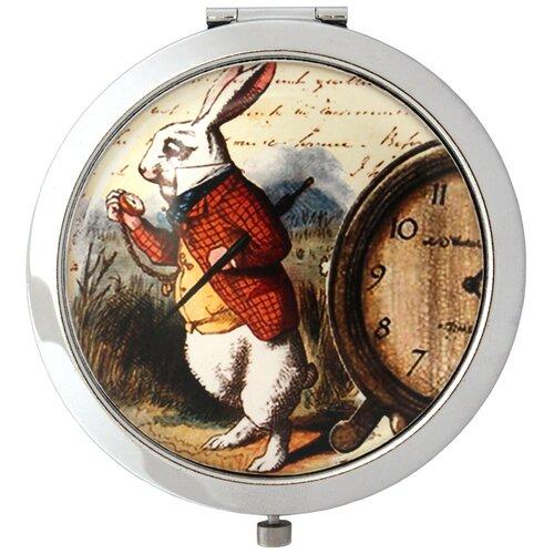 Купить Карманное зеркальце TINA BOLOTINA Белый Кролик