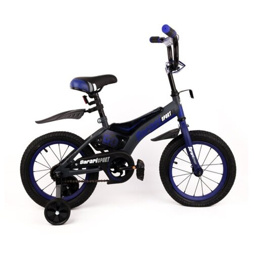 велосипед детский navigator sport ii вн14189 черный синий колесо 14 Велосипед детский 12 SAFARI proff SPORT двухколесный, синий