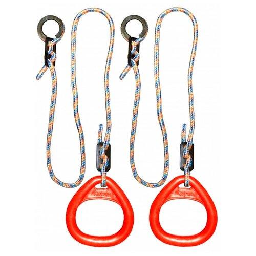 Купить Кольца гимнастические треугольные 02 В для Детского Спортивного Комплекса red, Формула здоровья, Игровые и спортивные комплексы и горки