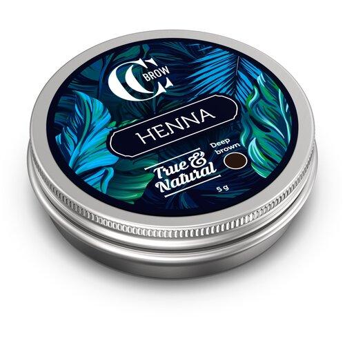 CC Brow Хна для окрашивания бровей и ресниц True&Natural 5 г deep brown