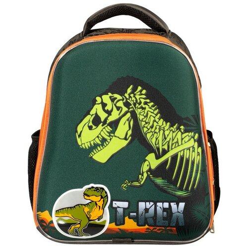 Купить Ранец №1School Basic T-Rex, 2 отд., ортопед. Cпинка, светящийся кант, №1 School, Рюкзаки, ранцы