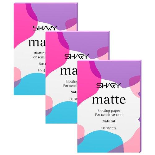 Купить Shary Матирующие салфетки Matte Natural, 3 шт. белый