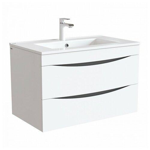 Фото - Тумба для ванной комнаты с раковиной IDDIS Cloud, ШхГхВ: 79.9х45.5х50 см, цвет: белый тумба для ванной комнаты с раковиной am pm like напольная шхгхв 80х45х85 см цвет белый глянец