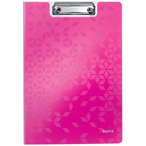Leitz Папка-планшет с верхним прижимом WOW A4, полифом розовый