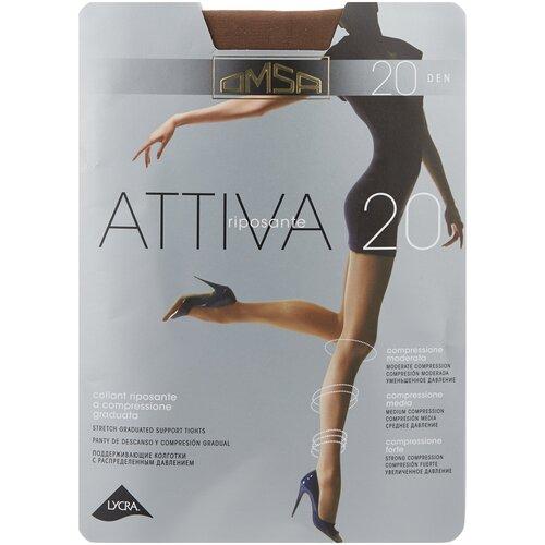Колготки Omsa Attiva, 20 den, размер 4-L, camoscio (коричневый) колготки omsa attiva 70 den размер 2 s camoscio коричневый